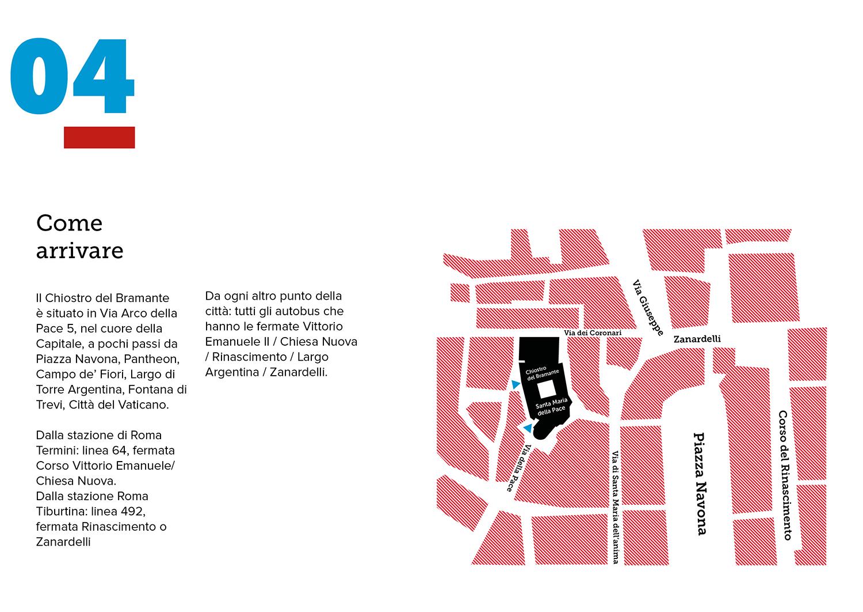Mappa_Chiostro del Bramante