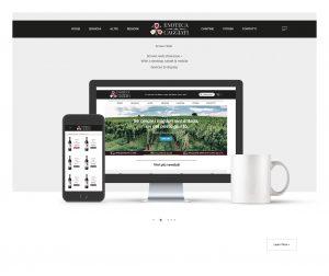 Mockup sitoweb Caggiati homepage